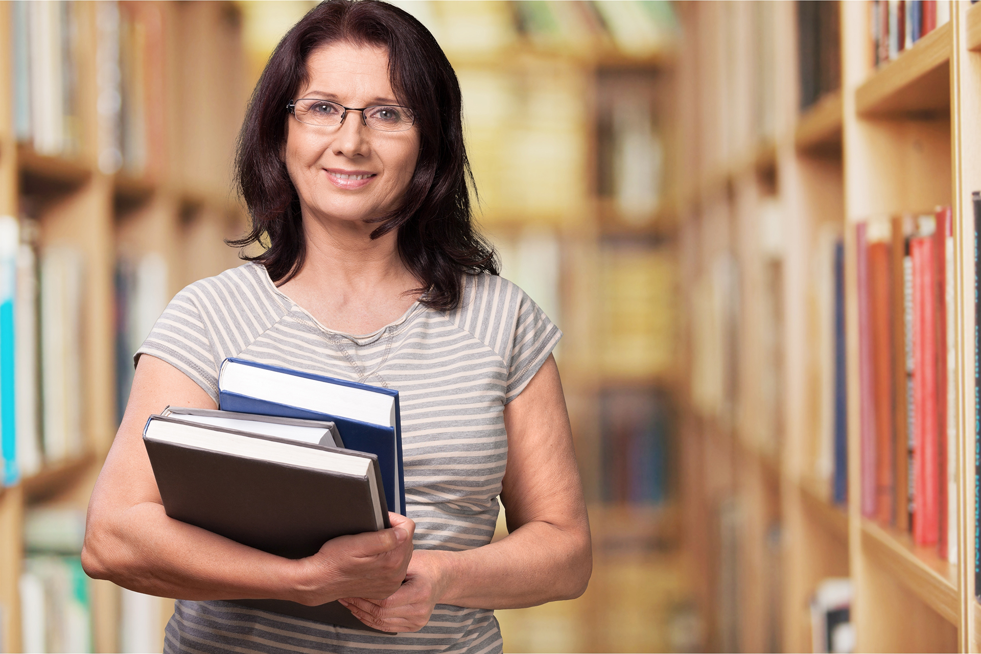 Photograph of librarian.